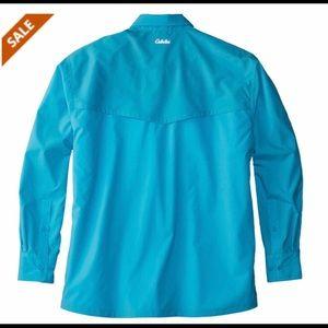 🐠Cabelas Blue Guide-wear Fishing Shirt